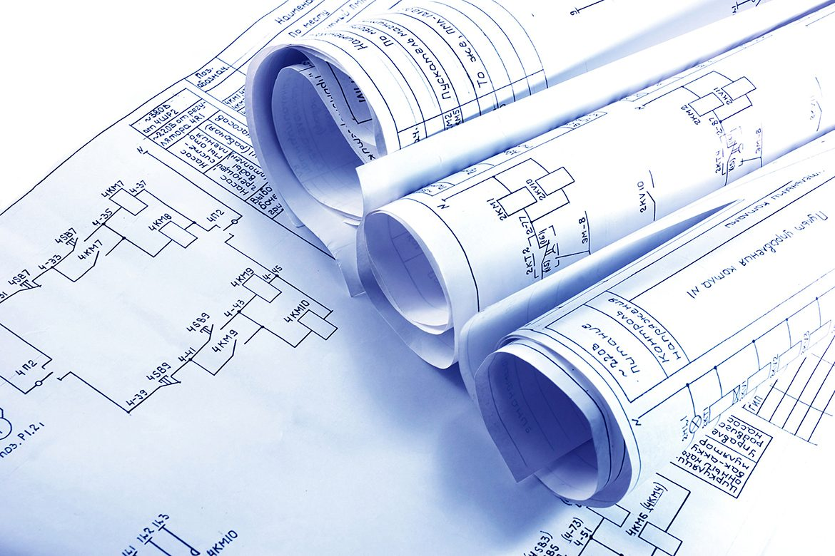 Engineering electricity blueprint rolls